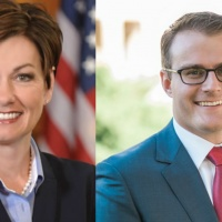 """Acting"" Lt. Governor Adam Gregg, Kim Reynolds Start Campaign On Day One"
