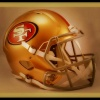 """Kaepernick Helmet Up Flames"""
