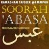 Tafseer of Soorah 'Abasa [80]