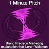 1 Minute Pitch - Loren Weisman explaining Brand Precision Marketing.