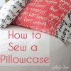 How to sew a pillowcase.