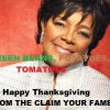 Pastor Shirley Caesar Green Beans, Tomatoes, Potatoes Challenge Happy Thanksgiving From The Claim Your Fame Radio Show