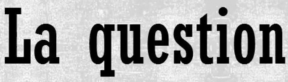 La question - show cover