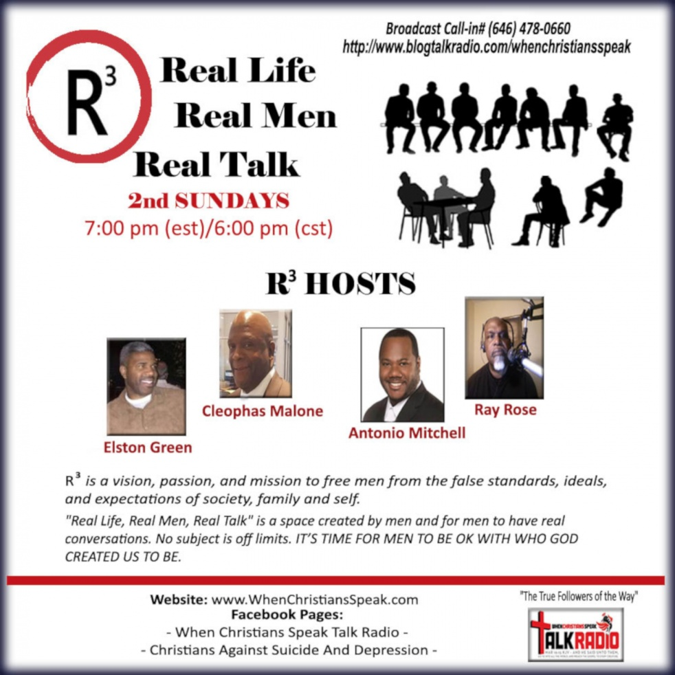 R3: Real Life; Real Men; Real Talk - show cover