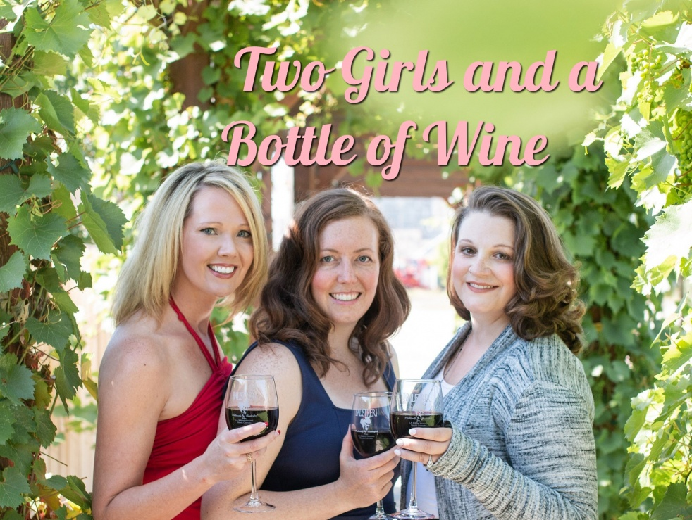 Two Girls And A Bottle Of Wine - Cover Image