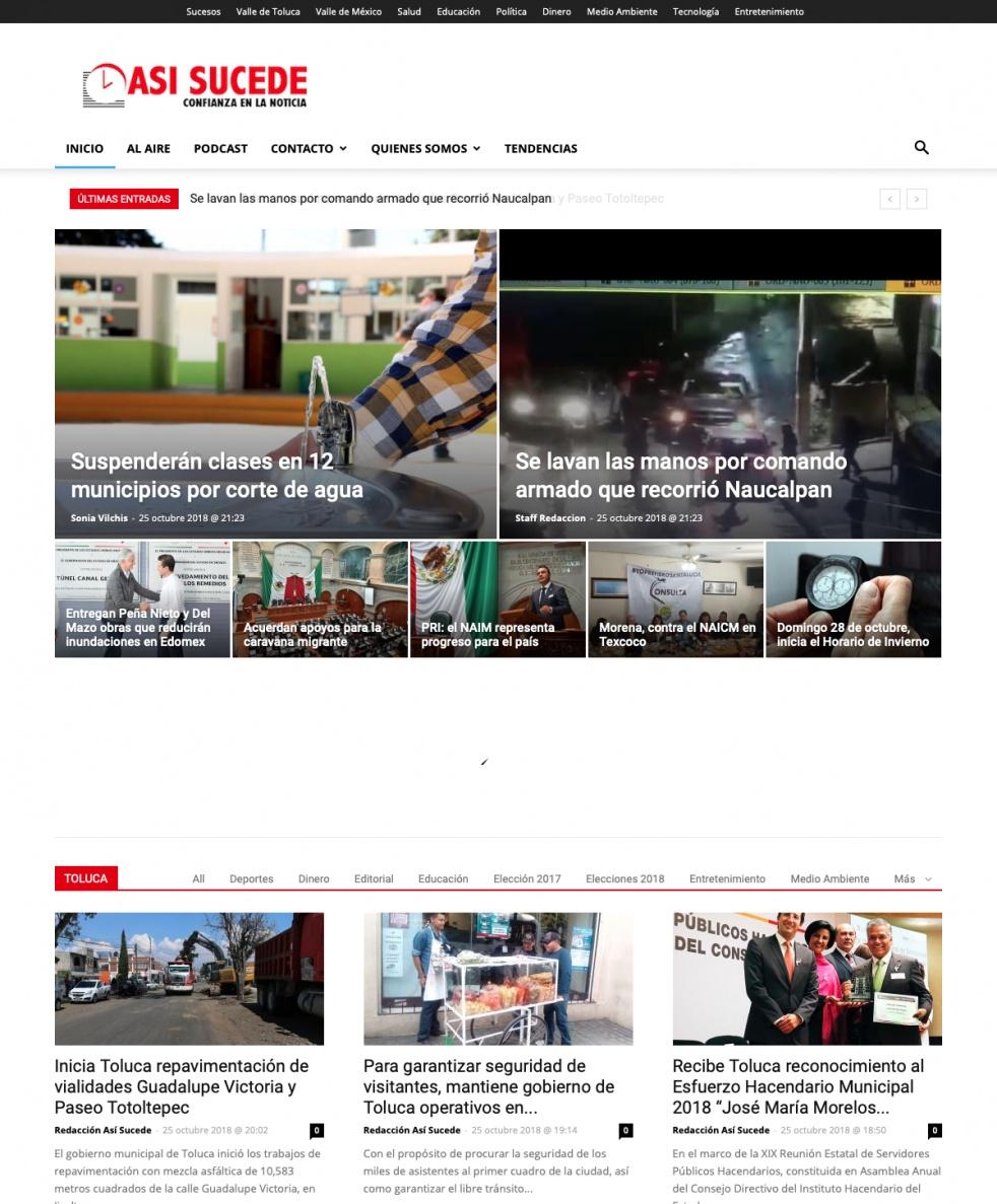 Noticiario Así Sucede Toluca - imagen de portada