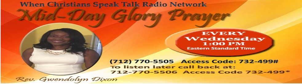 Mid-Day Glory Prayer with Rev. Dixon - show cover