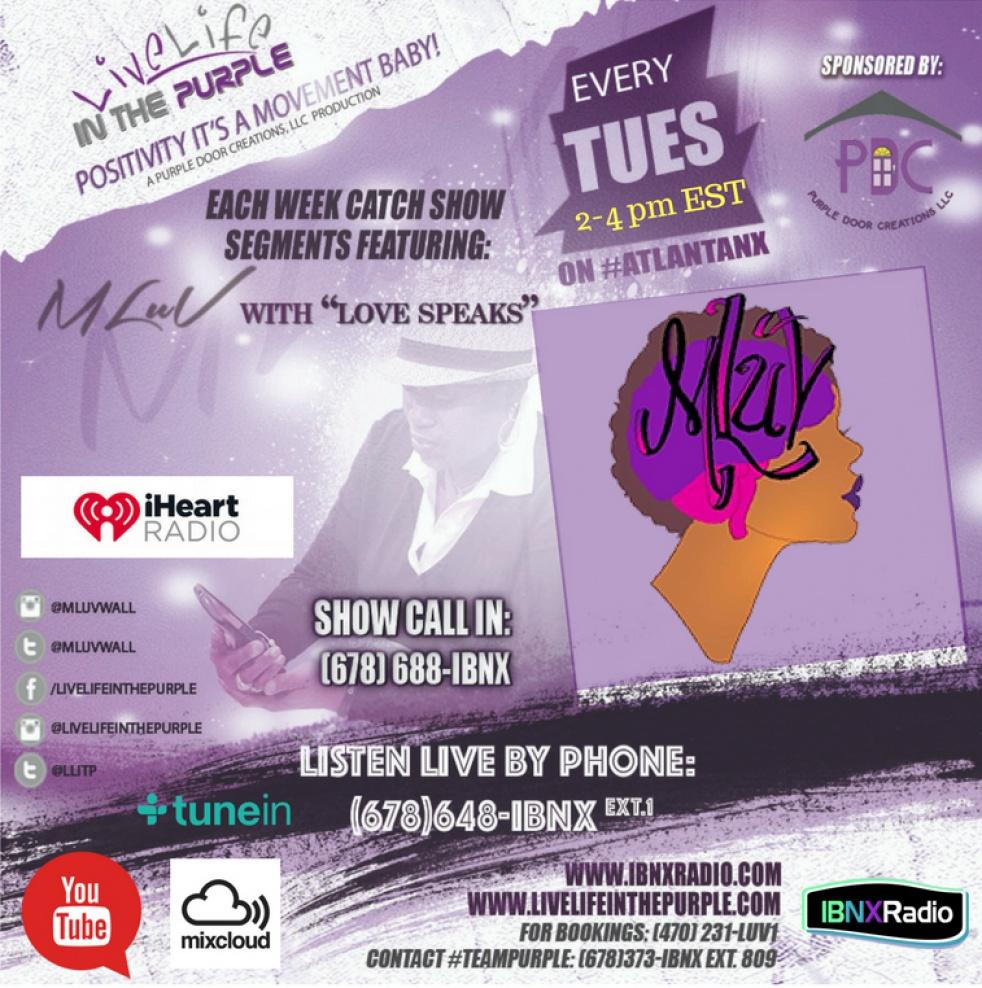 Live Life In The Purple on IBNX Radio - imagen de portada