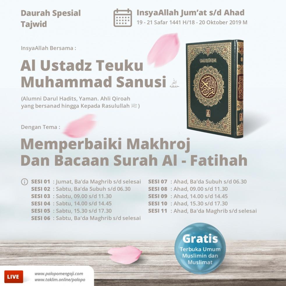 Dauroh Spesial TAJWID - show cover