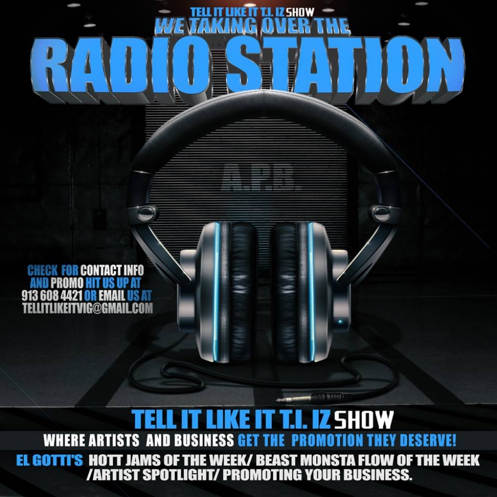 TELL IT LIKE IT T.I I'Z Radio - show cover
