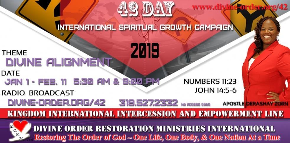 42 Days 2019 - Divine Alignment - imagen de show de portada