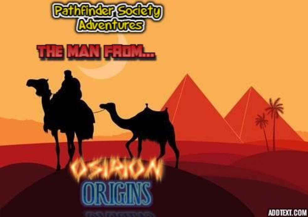 The Man From Osirion: ORIGINS - imagen de show de portada