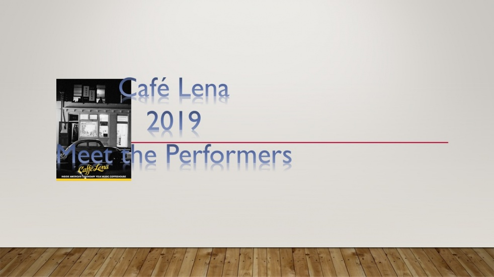 Cafe Lena _ Meet the Performers 2019 - show cover
