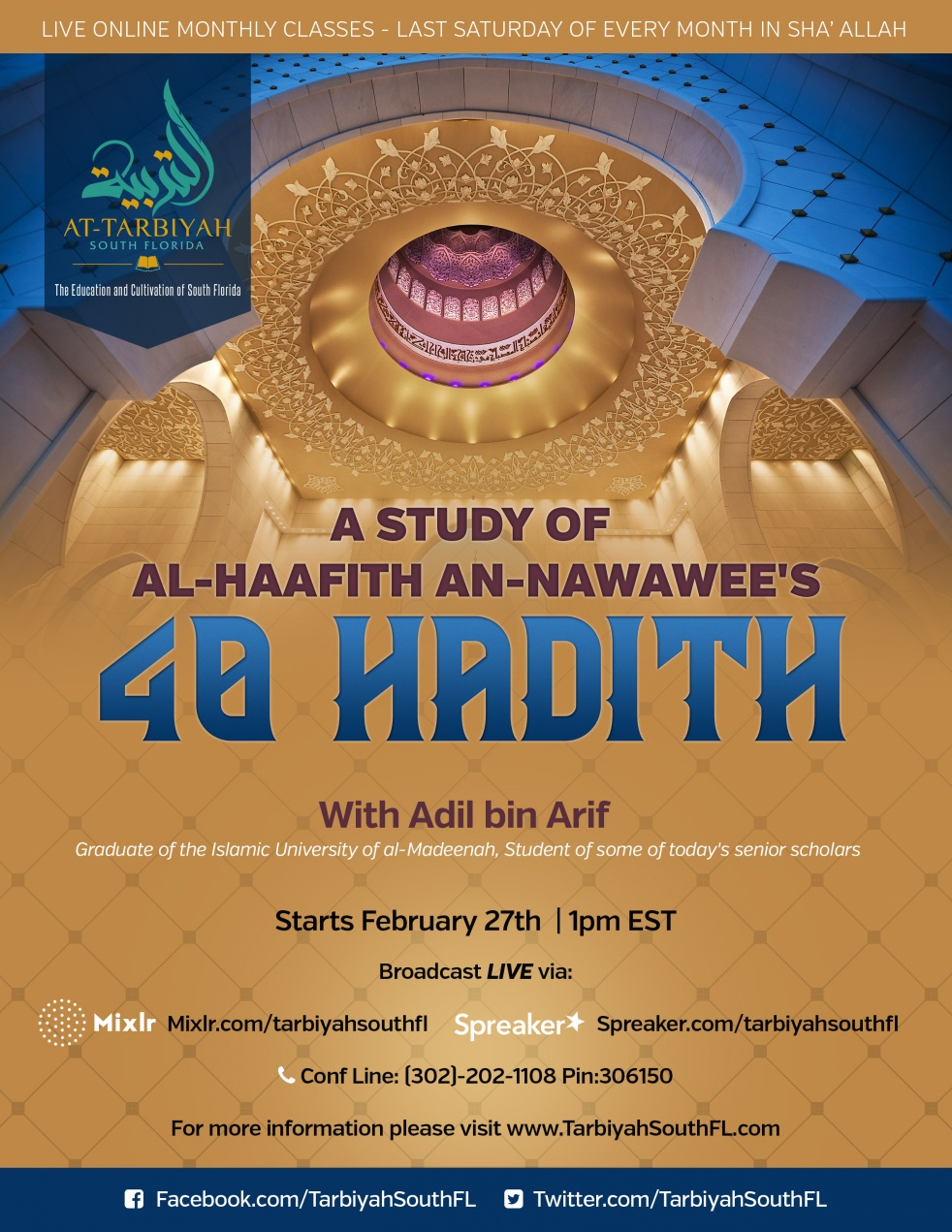 40 Hadith Study- (Last Sat of month) - Cover Image