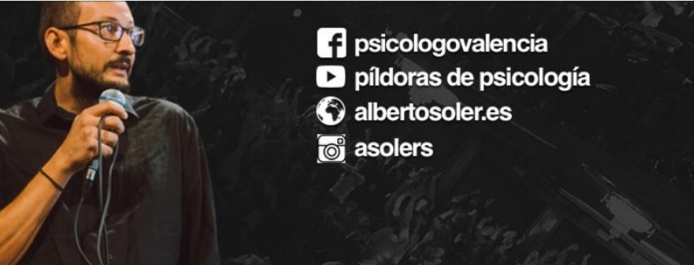 Píldoras de psicología, Alberto Soler - imagen de show de portada