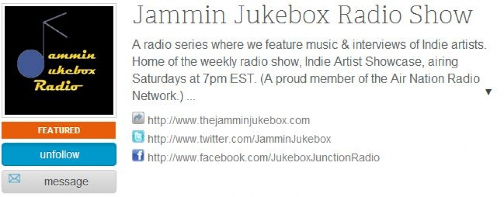 Jammin Jukebox Radio Show - Cover Image