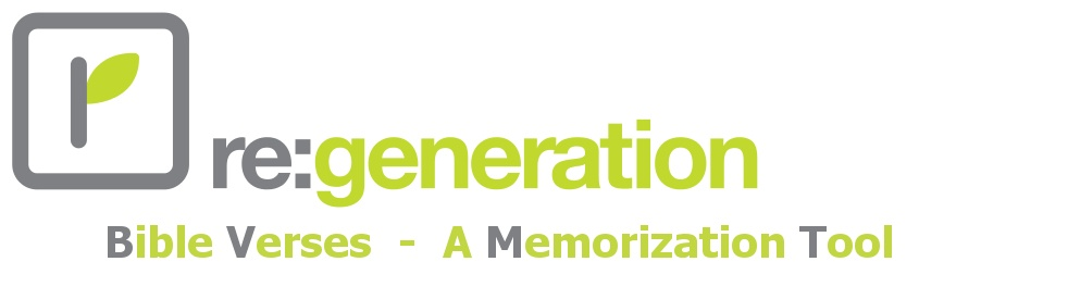Re:Generation Memory Verses - Cover Image