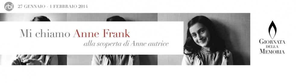 Mi chiamo Anne Frank - show cover