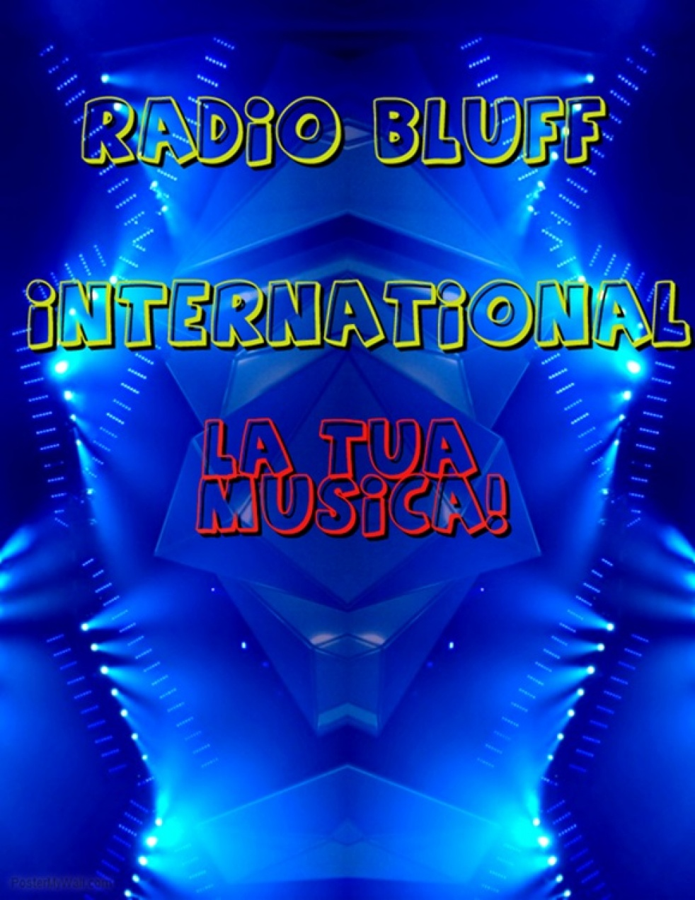 RADIO BLUFF INTERNATIONAL - imagen de show de portada