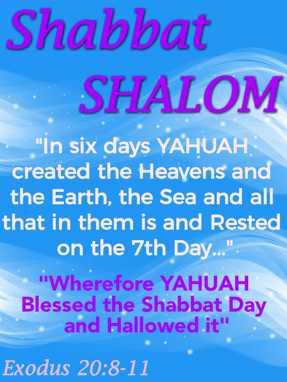 [SHABBAT SHALOM | YOUR'S HIS THE KINGDOM - imagen de portada