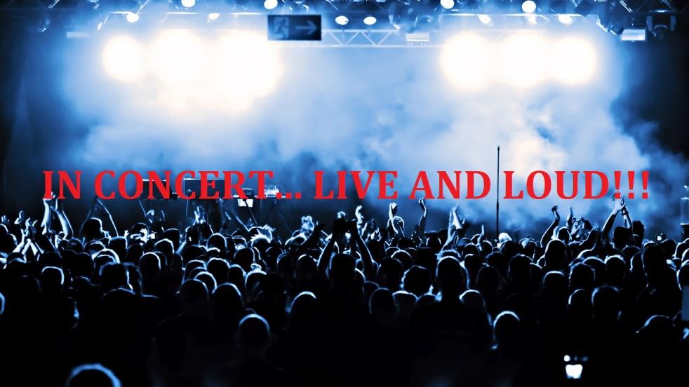 IN CONCERT... LIVE AND LOUD!!! - imagen de show de portada