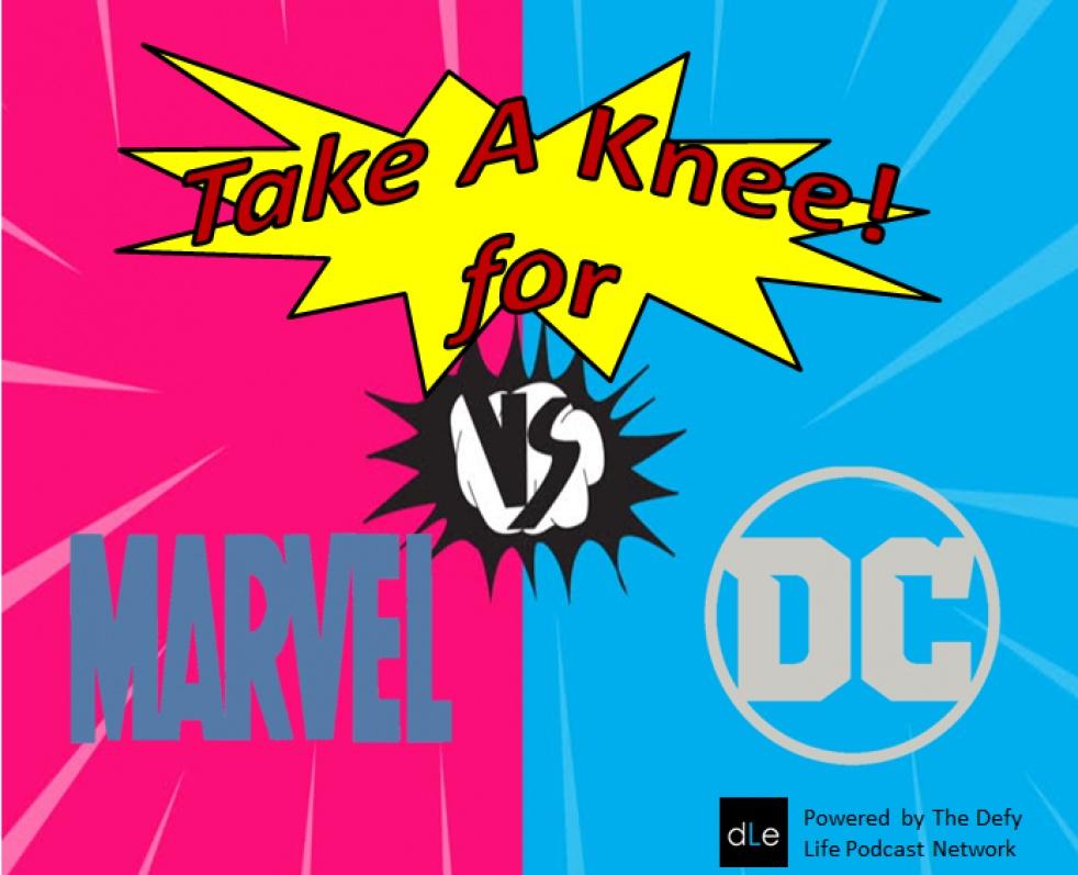 Take A Knee For Marvel Vs DC - imagen de show de portada