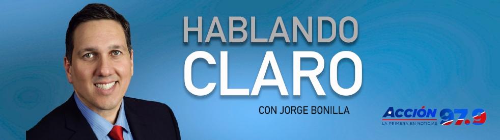 Hablando Claro con Jorge Bonilla - imagen de show de portada