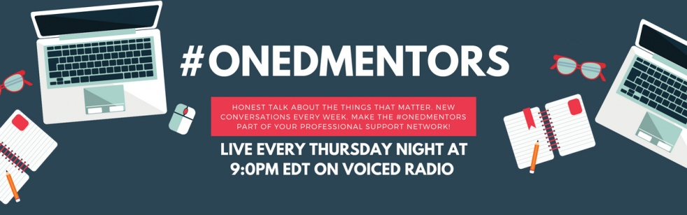 #ONedMentors on voicEd Radio - show cover