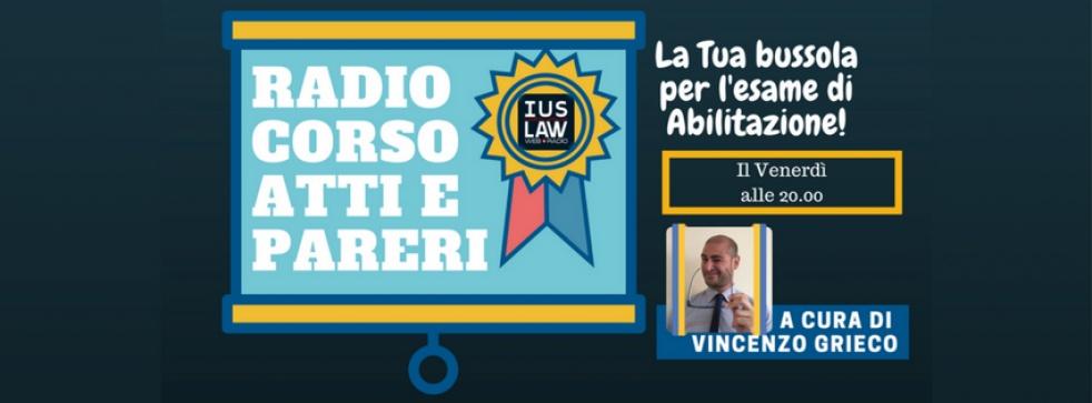 Canale Radio Corso Atti e Pareri - show cover