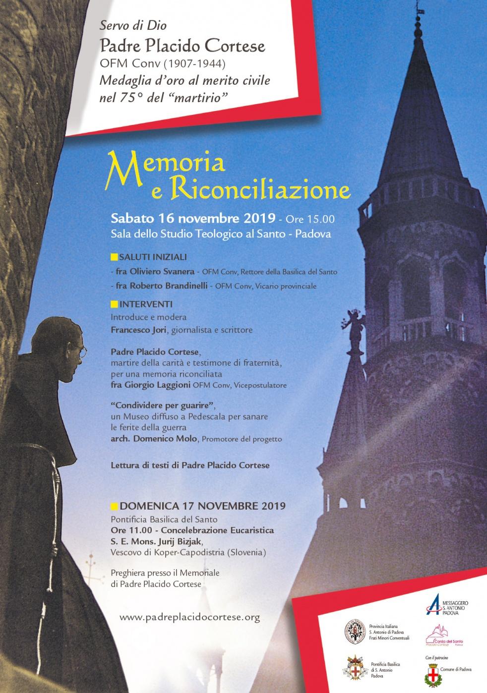 Memoria e riconciliazione - p.Placido C. - show cover
