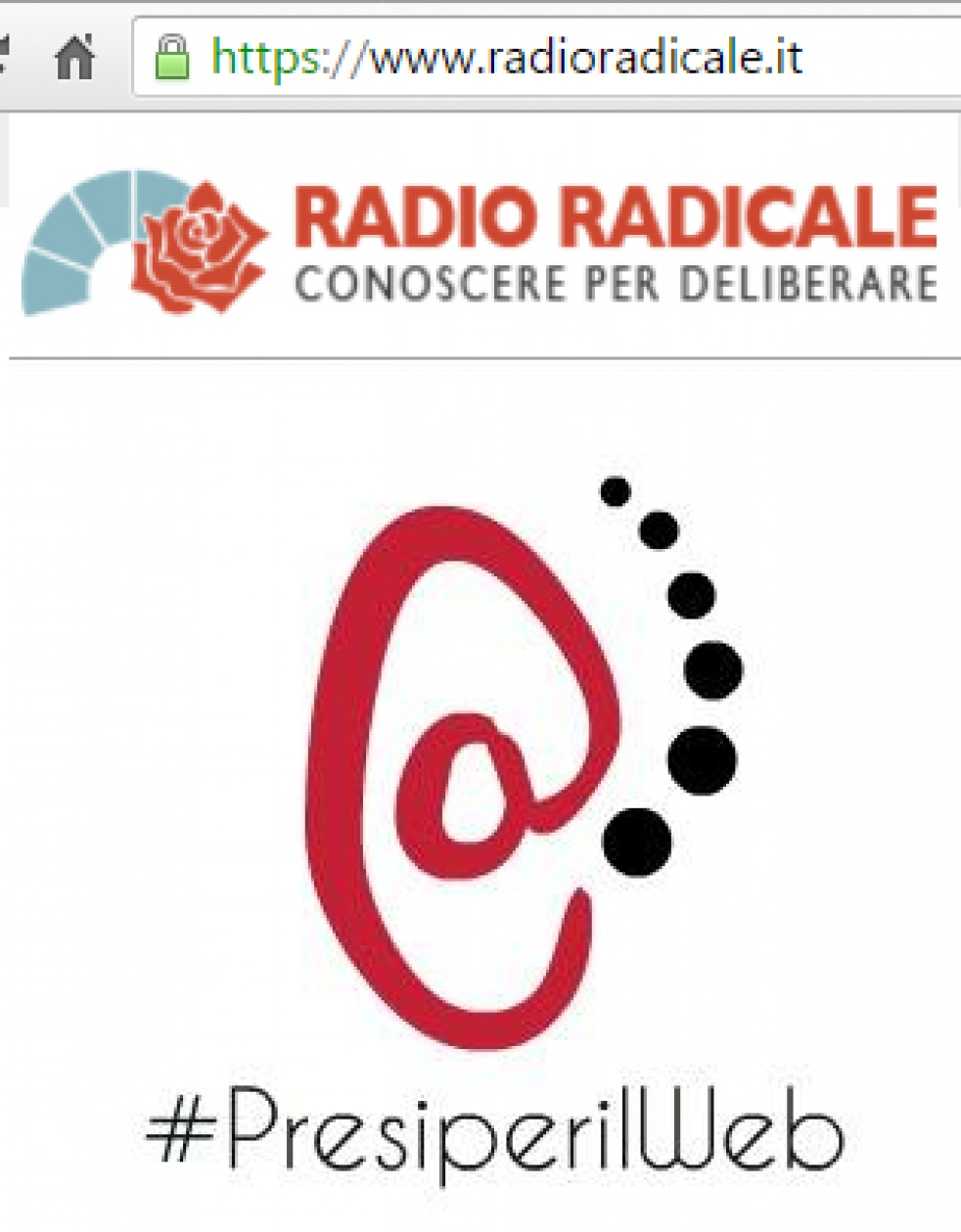 Presi Per il WEB - By Radio Radicale - imagen de show de portada