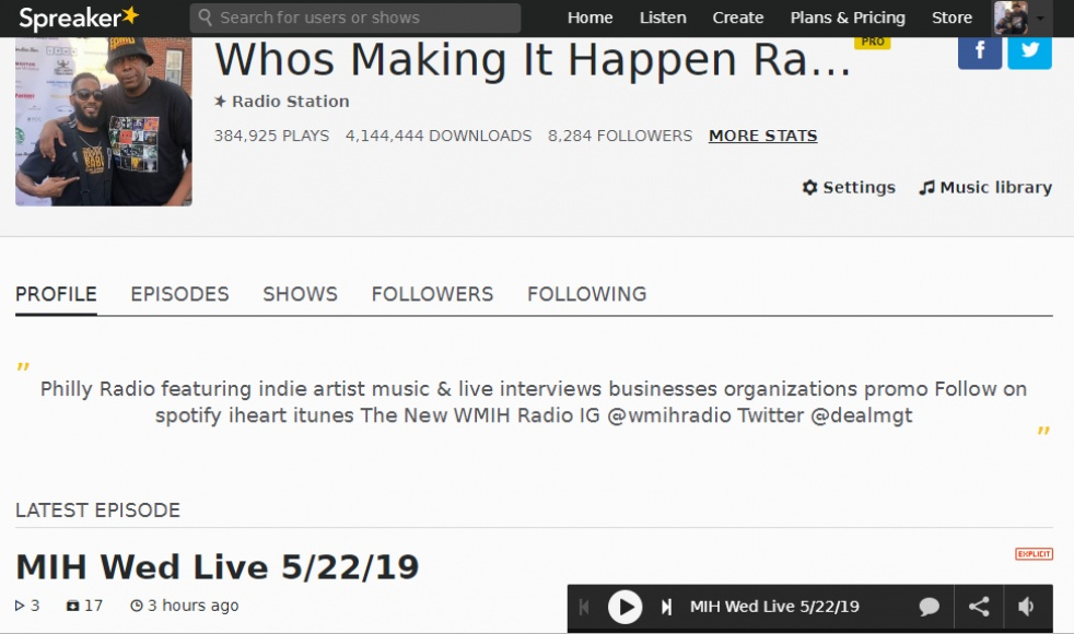 New Who's Making It Happen Radio Show - show cover