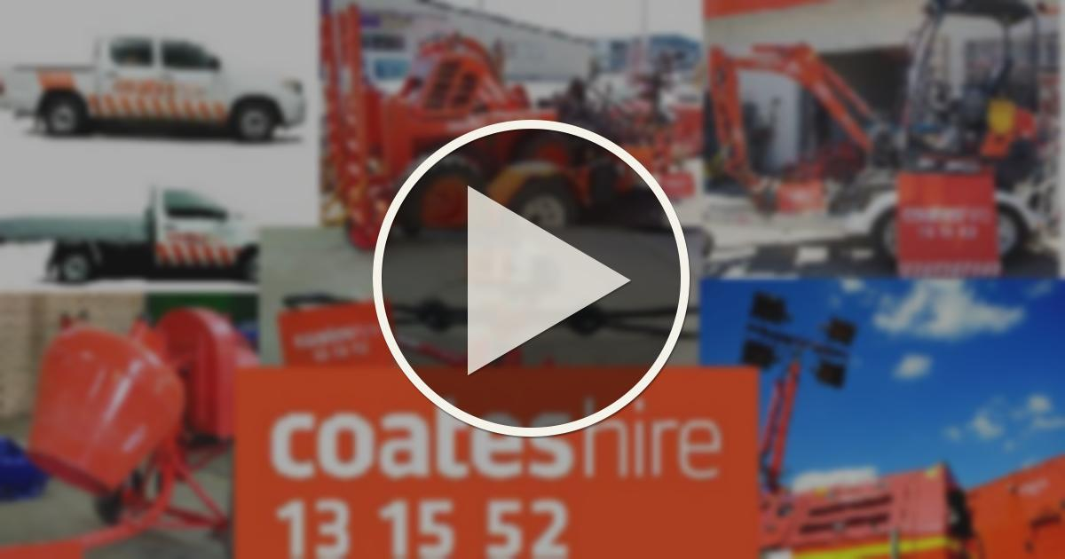 COATES HIRE ADVERT | THE BLUE AND WHITE RADIO SHOW