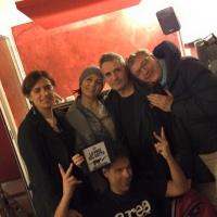 Carlo Fava insieme ai gattoni del 16/03/2015.