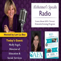 @AlzSpksRadio visits with the Alzheimer's Foundation of America