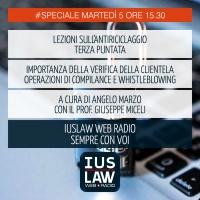 SPECIALE ANTIRICICLAGGIO - TERZA LEZIONE - Martedì 5 Dicembre ore 15.30 #Speciali