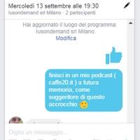 Attrezzi: organizzare un appuntamento via chat con Facebook - Lorenzo Mele
