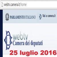 Camera dei deputati seduta 661 luned 25 luglio 2016 for Web tv camera deputati