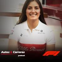 Tatiana Calderon a punto de subirse a un F1