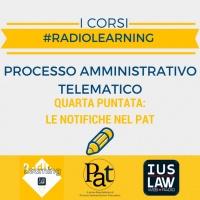 #RadioLearning - PAT il Corso. Puntata 4: le notifiche nel PAT