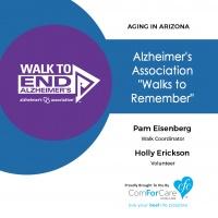 10/1/17: Pam Eisenberg with the Alzheimer's Association Desert Southwest Chapter and Holly Erickson with   Alzheimer's Association