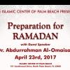 Preparation for Ramadan (Spring 2017)