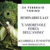 """Invito al seminario LAAV """" L'Amorevole forza dell'anima""""."""