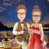 Dia de San Valentin con muchos saludos.