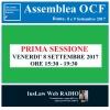 Assemblea OCF - 8/9 Settembre 2017 (PRIMA sessione)