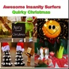 Awesome Insanity Surfers Quirky Christmas